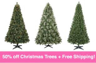 hot 50 off artificial christmas trees free shipping