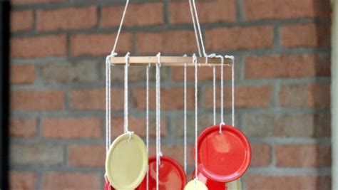 Summer Crafts Diyning Lid Wind Chime  E  A Crafting A