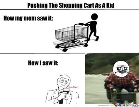Shopping Cart Meme - pushing the shopping cart by recyclebin meme center