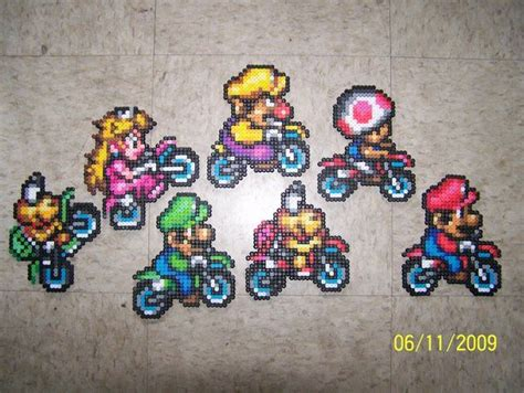 mario kart hama 203 best images about perler mario on princess