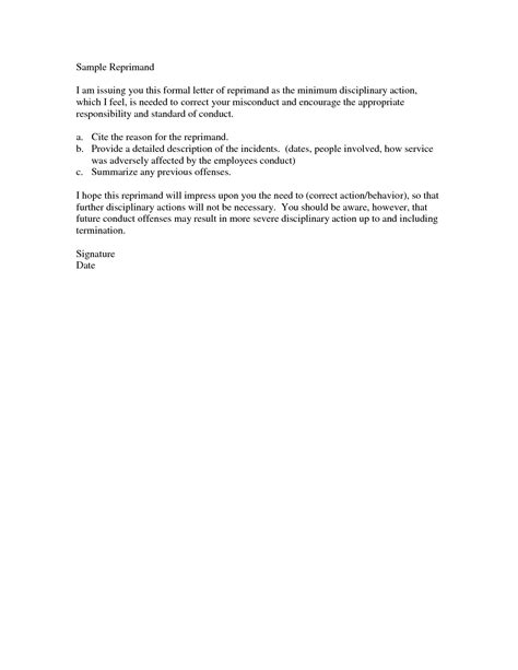performance write up template reprimand letter for poor performance best photos of