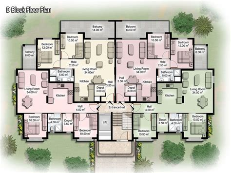 Backyard Apartment Floor Plans by Luxury Apartment Floor Plans Apartment Building Design