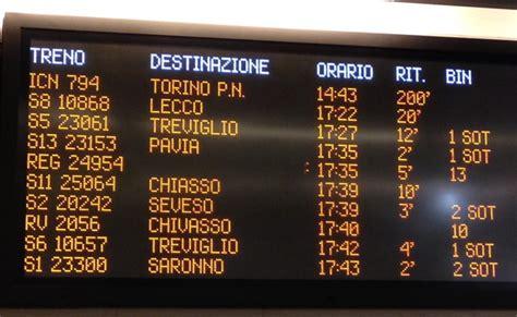 orari treni per porta garibaldi porta garibaldi il 90 dei treni in ritardo leccoonline