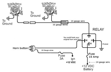 wiring diagram for air horn relay efcaviation