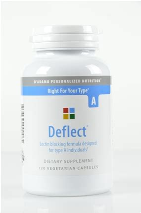 deflect 0 supplement deflect a 120 vegetarian capsules d adamo personalized