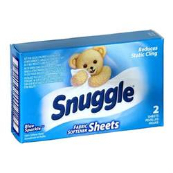 2 count snuggle blue sparkle dryer sheet fabric softener