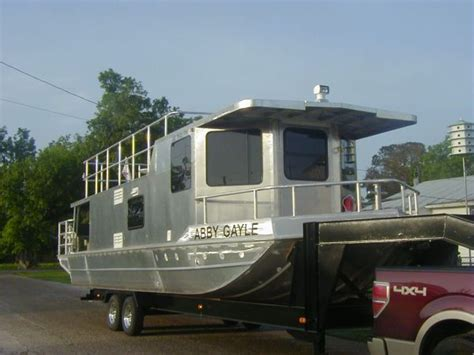 used flat boats for sale in louisiana 2011 homemade aluminum houseboat house boat for sale in
