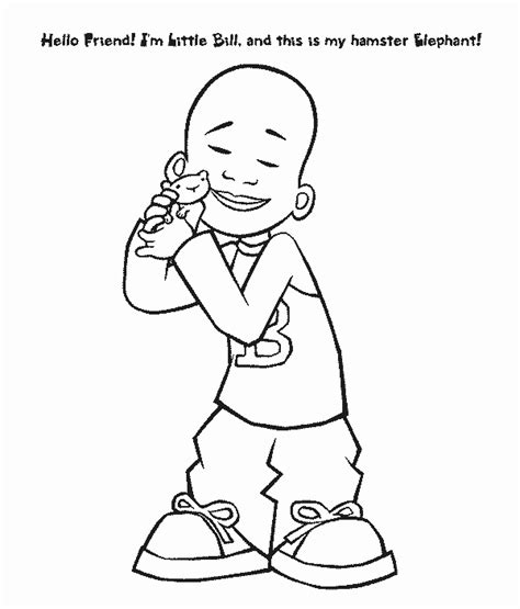 billelephant free printable little bill coloring pages