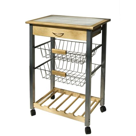 neu home natural kitchen cart with baskets 34122w 1 the