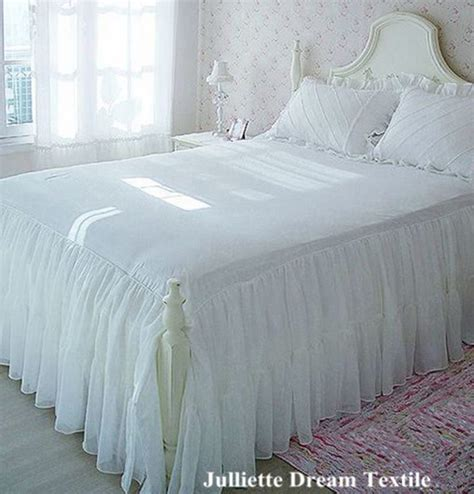 korean web site to order white satin bedspreafs 1piece two layers bed skirt chiffon bedspread satin cotton bed sheet for