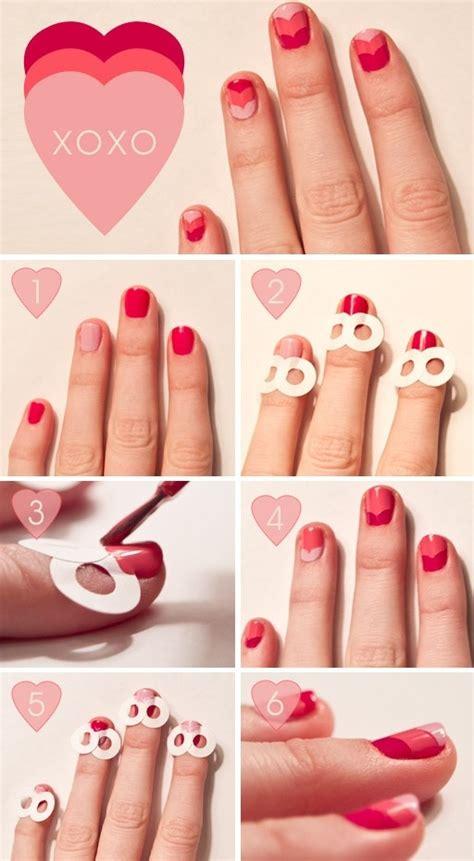 easy nail art heart diy xoxo heart nail art fabdiy