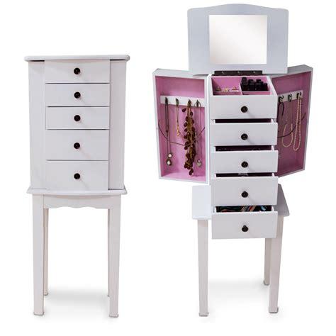 new wooden mirror jewelry floor standing cabinet makeup
