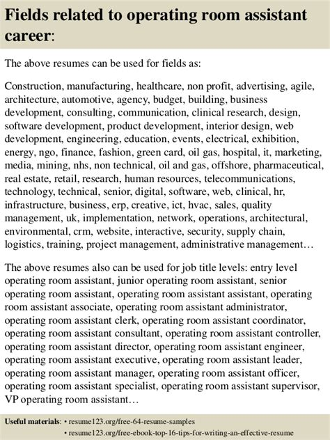 operating room assistant top 8 operating room assistant resume sles