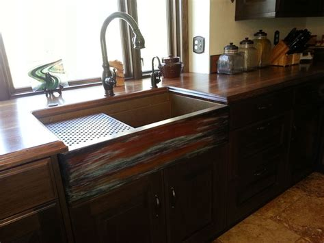 Copper Farmhouse Sink By Rachiele Rustic Kitchen Rustic Kitchen Sinks