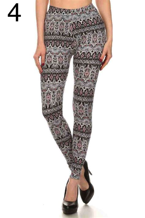 leggings pattern measurements plus size printed fashion leggings graphic pattern soft
