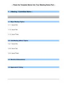 simple meeting minutes template search results for simple format of minutes of meeting