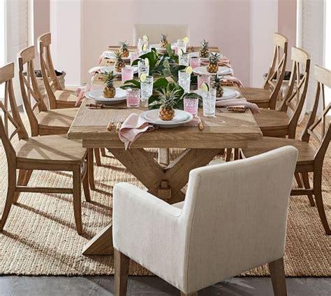toscana extending dining table toscana extending dining table seadrift pottery barn