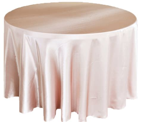 108 inch blush pink satin tablecloths