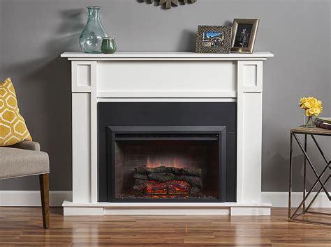 Electric Fireplace Packages by Heritage Electric Fireplace Mantel Package In White Htg