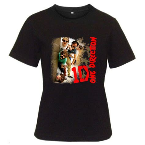 1d Shirt Black 1d one direction tour 2012 black t shirt s m l xl size