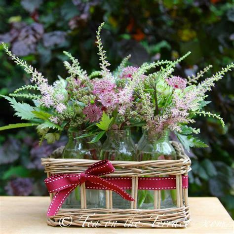 cottage garden perennial cut flowers table arrangement elegant floral arrangements pinterest