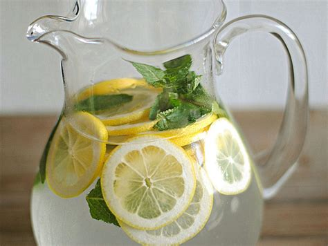 Lemon And Mint Detox Water by Eat Yourself 187 Lemon Water With Fresh Mint