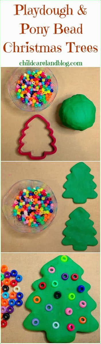 childcareland blog playdough and pony bead christmas