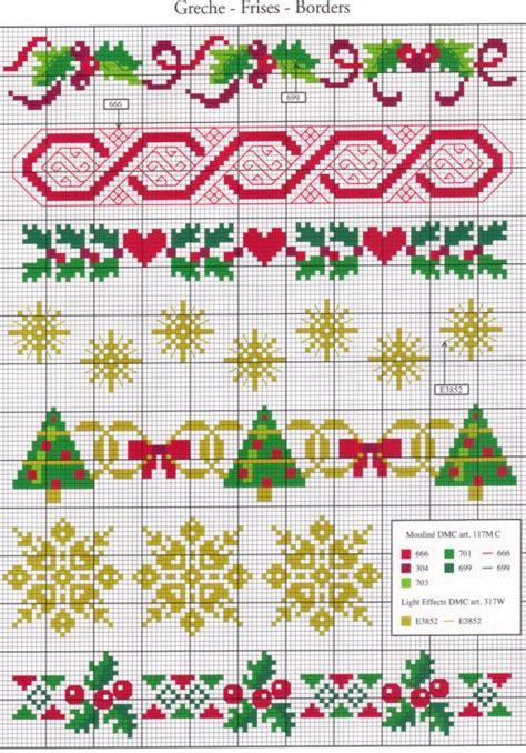 cenefas navidad punto de cruz cenefas navidad punto cruz navidad pinterest punto