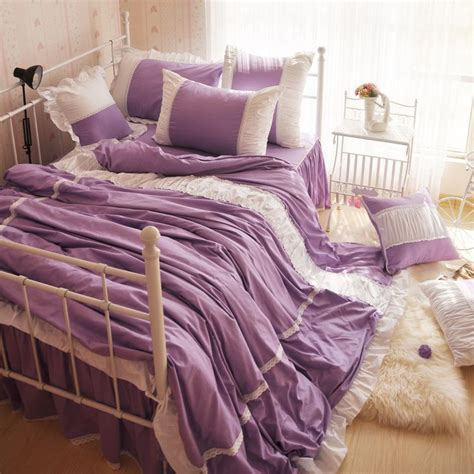 purple twin bedding sets free shipping luxury 100 cotton elegant style purple