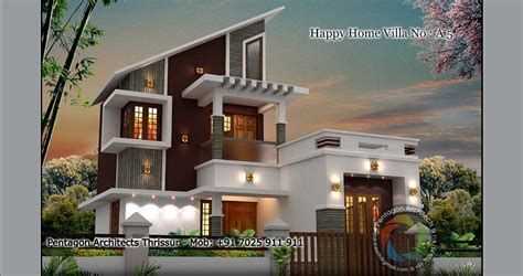 1234 sq ft floor happy home villa 5 design