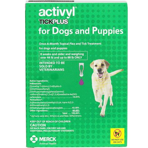 activyl spot on for dogs 6 month activyl spot on for large dogs puppies 44 88 lbs