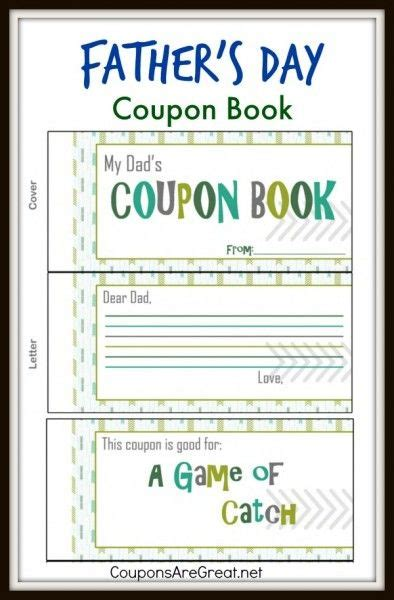 This Father S Day Coupon Book Is A Great Inexpensive Gift For Dad This Year Father S Day Date Coupon Book Template
