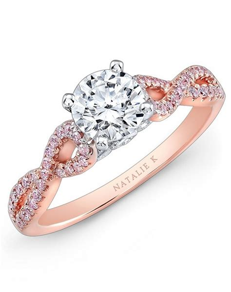 rose gold engagement rings for girls 4 life n fashion
