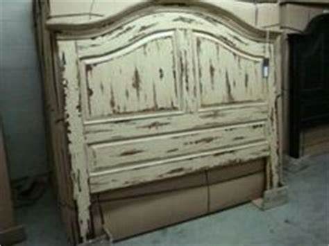 Distressed White Headboard by Distressed Painted Headboards Heavy Distressed