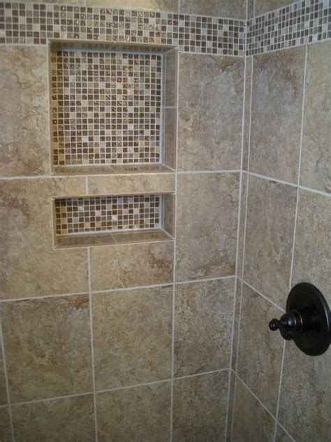 Shower Tile by A Waterproof Alcove For Holding All Your Shower Toiletries