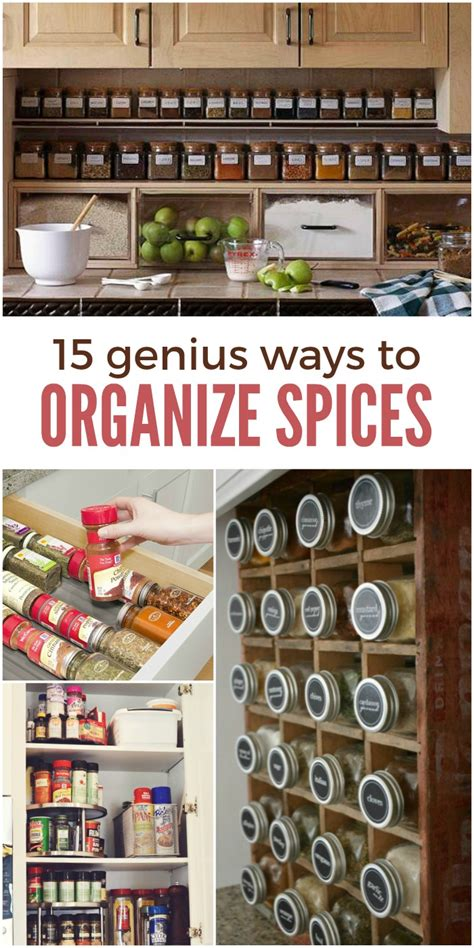 how to organize spice 15 genius ways to organize spices and save space