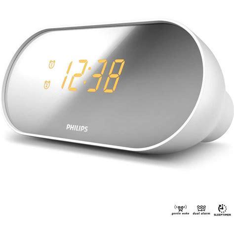 philips aj2000 fm dual alarm clock radio white big w