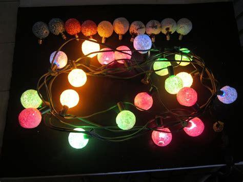vinyage snowball lights vintage ge snowball lights 20 light string 10 bulbs sugared snow saunderlyn s