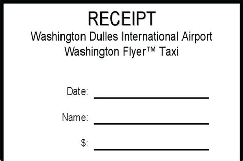 washington dc taxi receipt template blank cab receipt tour and travels bill format blank taxi