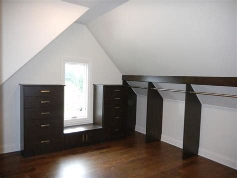 slanted ceiling contemporary closet chicago by angled ceiling photo