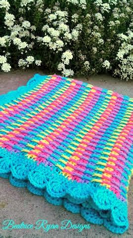 Rainbow Crochet Baby Blanket by Rainbow Dash Baby Blanket
