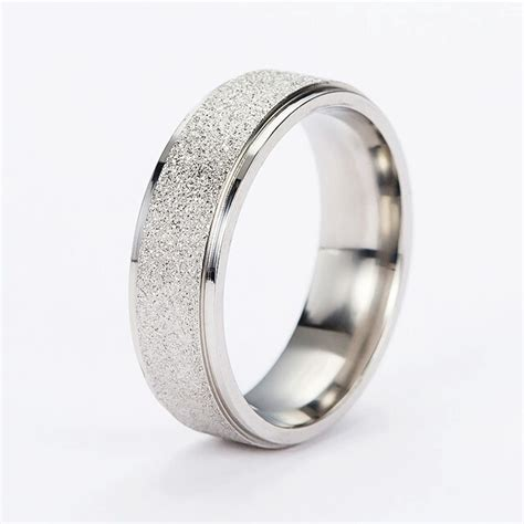stainless steel wedding engagement rings bands fashion