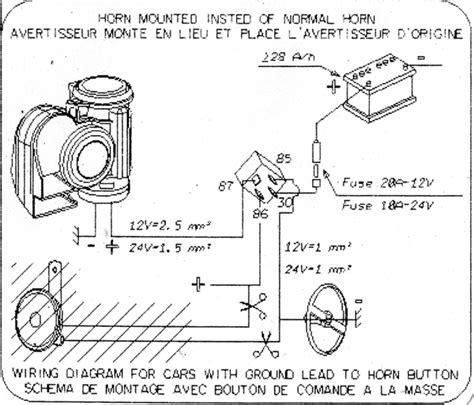 horn relay wiring motorcycle wiring diagram with description
