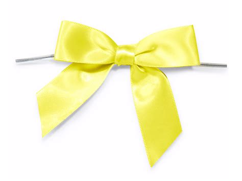 Gs154 Gstring Strapped Front With Ribbon yellow 3 quot pre satin bows with 5 quot twist ties 7 8 quot ribbon 26116
