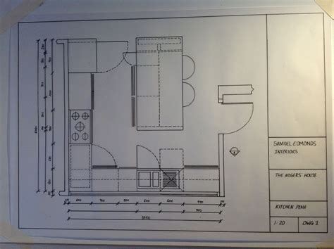 Drawing Kitchen Plans To Scale by Kitchen Plan Scale Drawing 1 20 Drawing