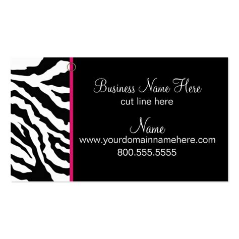 zebra print business card template