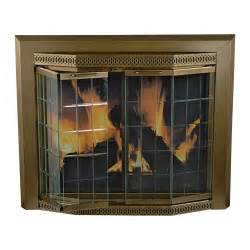 pleasant hearth grandior fireplace glass door for
