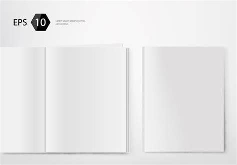 magazine blank template set of album and magazine template blank page vector free