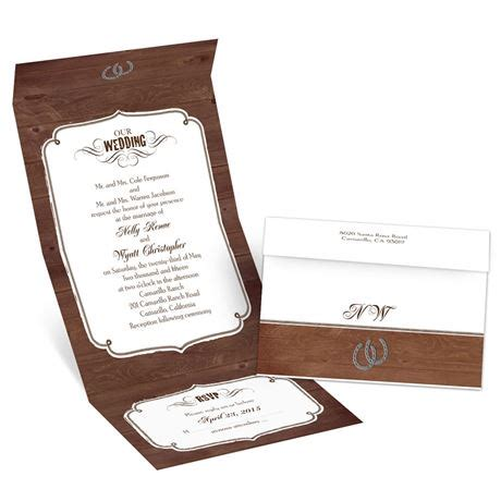 free seal and send wedding invitation templates rustic wedding seal and send invitation invitations by