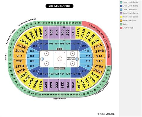 joe louis arena detroit mi seating chart view
